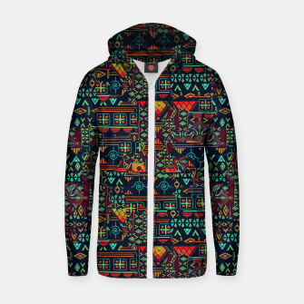 Miniaturka Cheerful ethnic Zip up hoodie, Live Heroes
