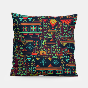 Thumbnail image of Cheerful ethnic Pillow, Live Heroes