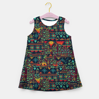 Miniaturka Cheerful ethnic Girl's summer dress, Live Heroes