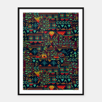 Miniatur Cheerful ethnic Framed poster, Live Heroes