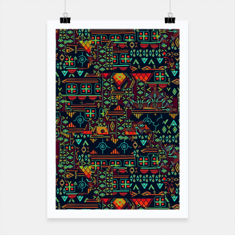 Miniatur Cheerful ethnic Poster, Live Heroes