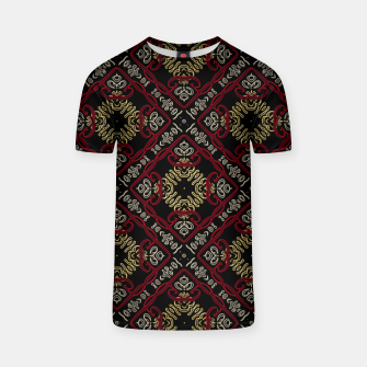 Miniatur Pattern gold patch T-Shirt, Live Heroes