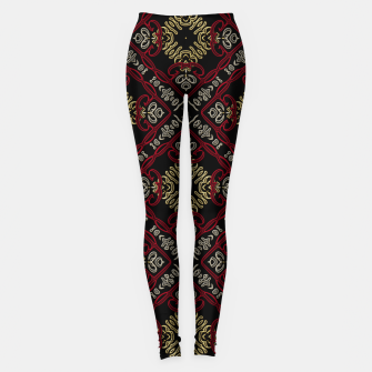 Miniatur Pattern gold patch Leggings, Live Heroes