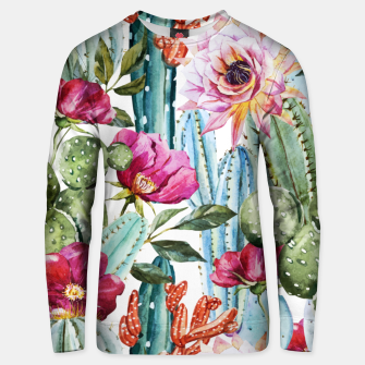Thumbnail image of Watercolor Cactus Unisex sweater, Live Heroes