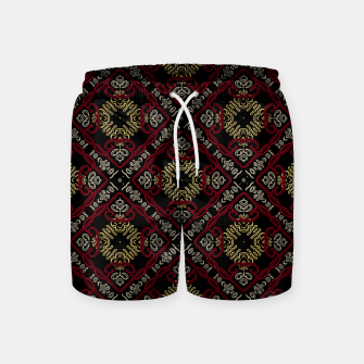Thumbnail image of Pattern gold patch Badeshorts, Live Heroes