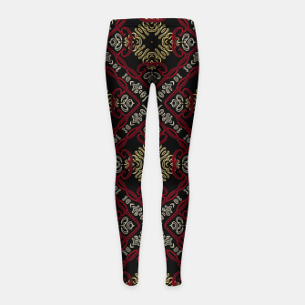 Miniatur Pattern gold patch Kinder-Leggins, Live Heroes
