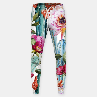 Thumbnail image of Watercolor Cactus Sweatpants, Live Heroes