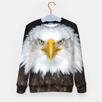 Thumbnail image of Bald Eagle Kid's sweater, Live Heroes