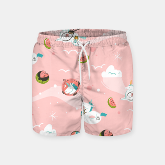 Thumbnail image of Hand drawn abstract Unicorns Swim Shorts, Live Heroes
