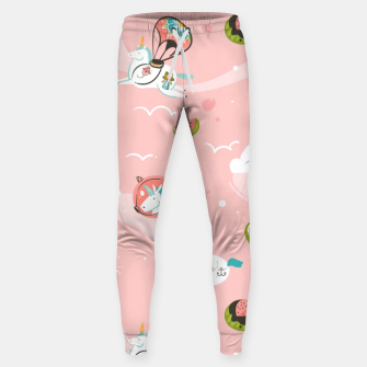 Thumbnail image of Hand drawn abstract Unicorns Sweatpants, Live Heroes