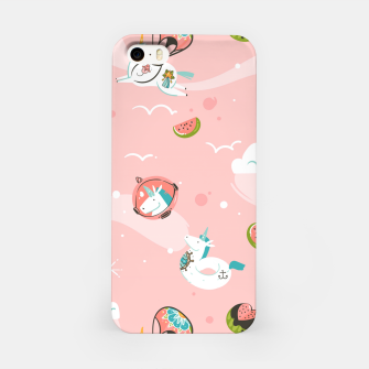 Thumbnail image of Hand drawn abstract Unicorns iPhone Case, Live Heroes