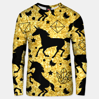 Thumbnail image of Gold Unicorns Unisex sweater, Live Heroes