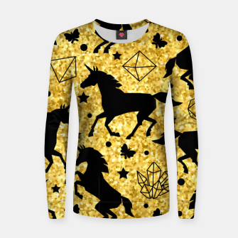 Thumbnail image of Gold Unicorns Women sweater, Live Heroes
