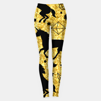 Thumbnail image of Gold Unicorns Leggings, Live Heroes