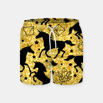 Thumbnail image of Gold Unicorns Swim Shorts, Live Heroes