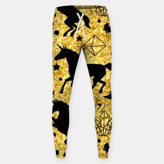 Thumbnail image of Gold Unicorns Sweatpants, Live Heroes