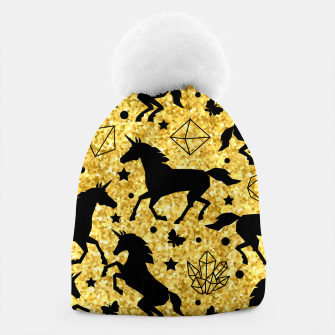 Thumbnail image of Gold Unicorns Beanie, Live Heroes