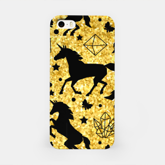 Thumbnail image of Gold Unicorns iPhone Case, Live Heroes