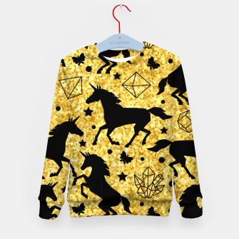Thumbnail image of Gold Unicorns Kid's sweater, Live Heroes