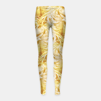 Thumbnail image of Gold Unicorns2 Girl's leggings, Live Heroes