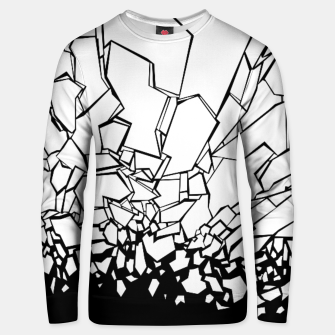 Thumbnail image of Broken II Abstract black and white shattered glass cracks pattern. Unisex sweater, Live Heroes