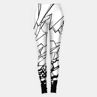 Thumbnail image of Broken II Abstract black and white shattered glass cracks pattern. Leggings, Live Heroes