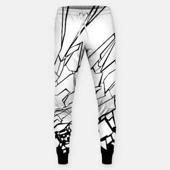 Thumbnail image of Broken II Abstract black and white shattered glass cracks pattern. Sweatpants, Live Heroes
