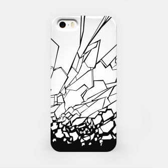 Miniatur Broken II Abstract black and white shattered glass cracks pattern. iPhone Case, Live Heroes