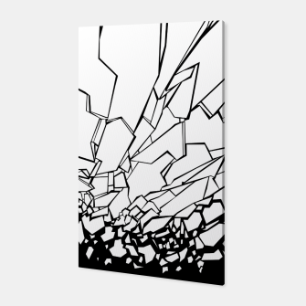 Miniatur Broken II Abstract black and white shattered glass cracks pattern. Canvas, Live Heroes