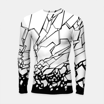 Thumbnail image of Broken II Abstract black and white shattered glass cracks pattern. Longsleeve rashguard , Live Heroes