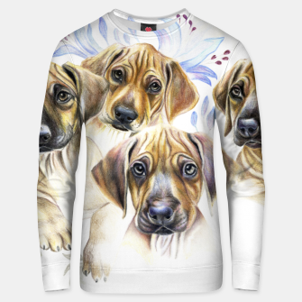 Thumbnail image of Rhodesian Puppies Unisex sweater, Live Heroes