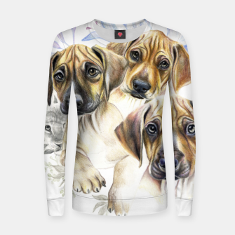 Thumbnail image of Rhodesian Puppies Women sweater, Live Heroes