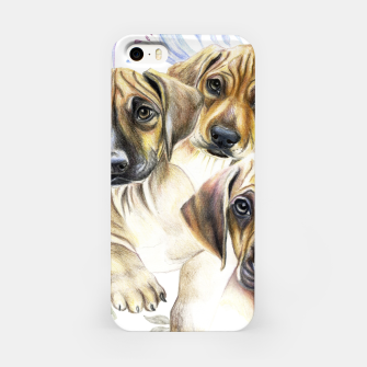 Thumbnail image of Rhodesian Puppies iPhone Case, Live Heroes