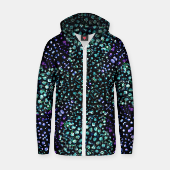 Thumbnail image of Chic Abstract Print Zip up hoodie, Live Heroes