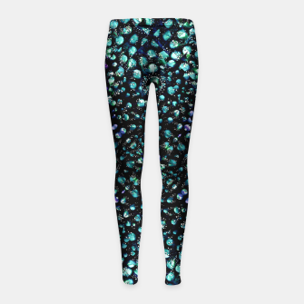 Thumbnail image of Chic Abstract Print Girl's leggings, Live Heroes