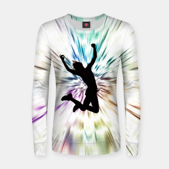 Thumbnail image of Jump Women sweater, Live Heroes