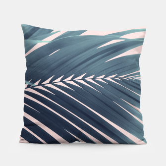 Thumbnail image of Palm Leaf Blush Vibes #1 #tropical #decor #art Kissen, Live Heroes