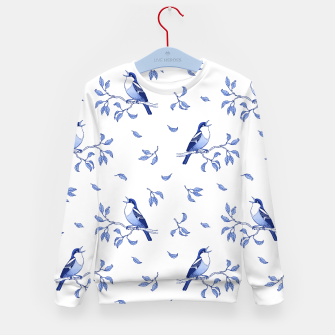 Thumbnail image of Blue Singing Birds Kid's sweater, Live Heroes