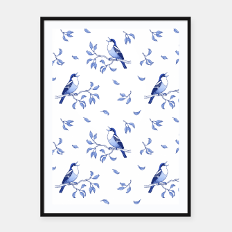 Thumbnail image of Blue Singing Birds Framed poster, Live Heroes