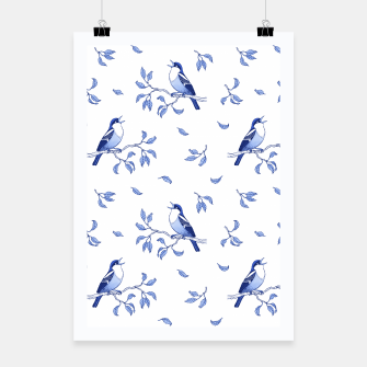 Thumbnail image of Blue Singing Birds Poster, Live Heroes