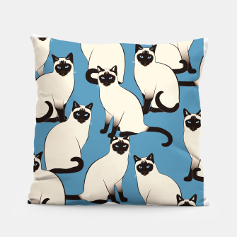 Thumbnail image of Siamese cats big Pillow, Live Heroes