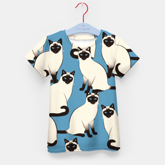 Thumbnail image of Siamese cats big Kid's t-shirt, Live Heroes