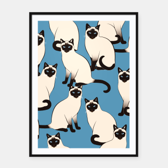 Thumbnail image of Siamese cats big Framed poster, Live Heroes