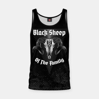 Miniatur Black Sheep Of The Family Tank Top, Live Heroes