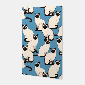 Thumbnail image of Siamese cats blue pattern Canvas, Live Heroes