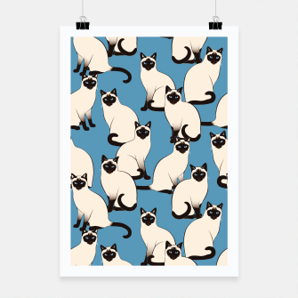 Thumbnail image of Siamese cats blue pattern Poster, Live Heroes