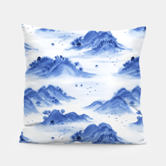 Thumbnail image of Morning in the Mountains Pillow, Live Heroes