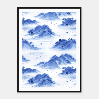 Thumbnail image of Morning in the Mountains Framed poster, Live Heroes