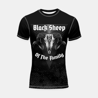 Thumbnail image of Black Sheep Of The Family Shortsleeve rashguard, Live Heroes