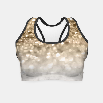 Thumbnail image of Marble Lady Glitter Dream #2 #shiny #gem #decor #art  Crop Top, Live Heroes